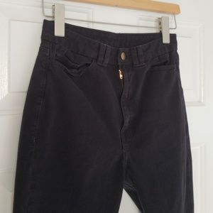 American Apparel High Waisted Jean w/Zippers